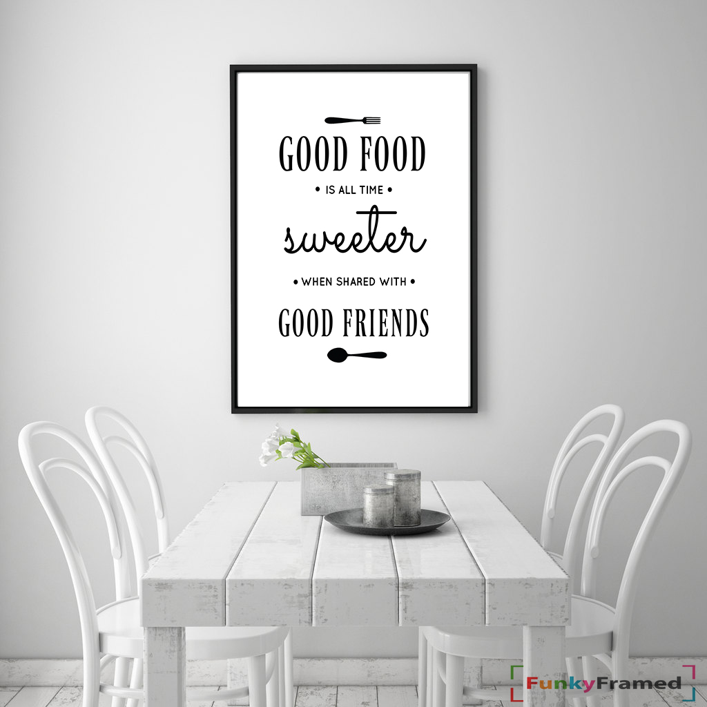 Kitchen Prints Wall Art Print Dining Room Poster Home Decor Word Art Quote Ebay